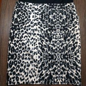 NWT Mossimo plus animal print pencil skirt 18